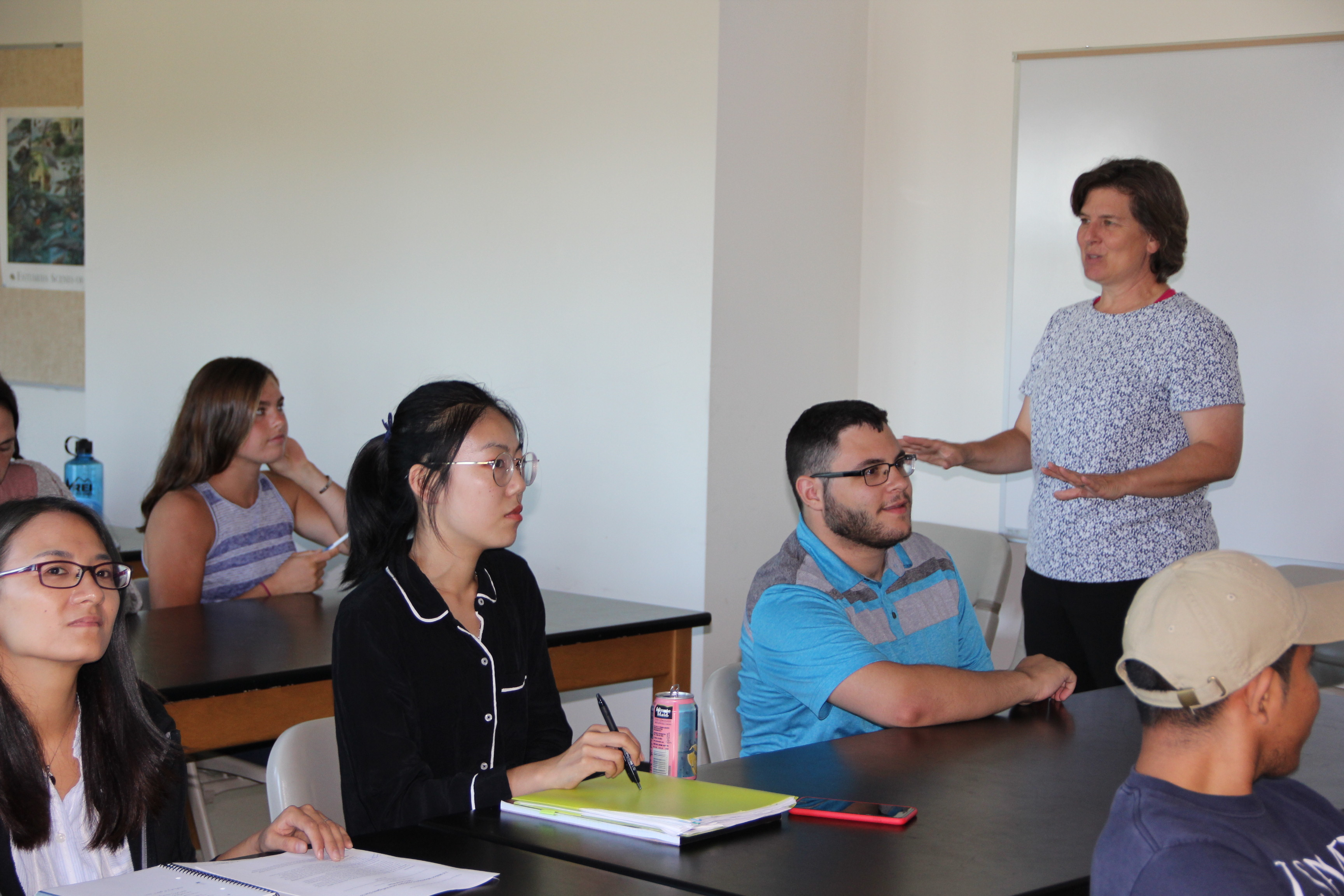"""Juliana Barrett, associate extension educator at Sea Grant, teaches a new class at the UConn Storrs campus called, """"Climate Resilience and Adaptation: Municipal Policy and Planning."""""""