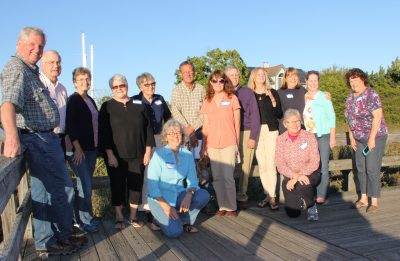 Graduates of the Coastal Certificate program gather at the Connecticut Audubon Center at Milford Point on Oct. 1.