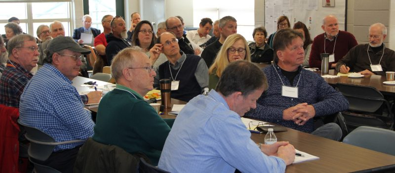 About 40 members of shellfish commissions from Greenwich to Stonington attended the 14th annual meeting of shellfish commissions hosted by CT Sea Grant Jan. 13 at The Sound School in New Haven.