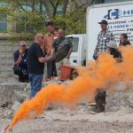 Ted Williams of Hercules SLR Inc. teaches fishermen about different types of emergency flares.