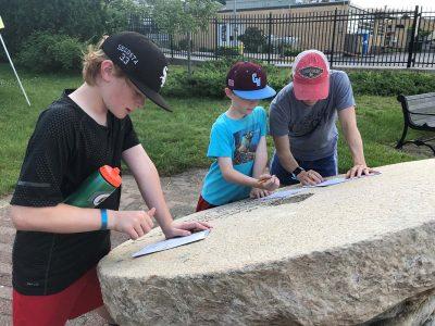 Quest participants at Fort Griswold.