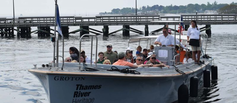 The Thames River Heritage Park water taxi brought boatloads of passengers between Fort Trumbull, Fort Griswold and the downtown New London waterfront park for the Thames River Quest on June 2.