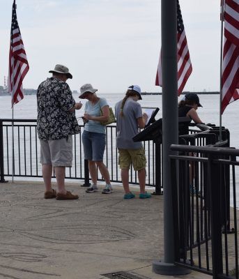 The waterfront park Quest took participants on the walkway along the Thames River.