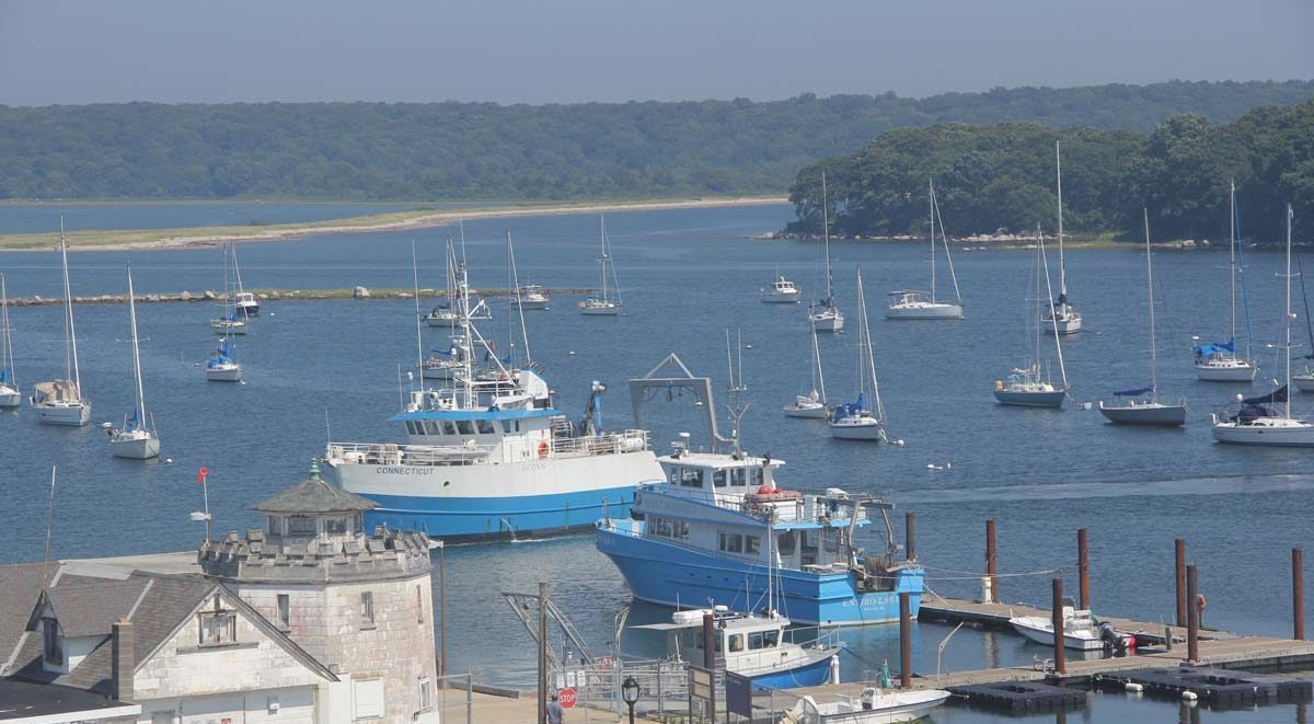 The R/V Connecticut, UConn's research vessel, pulls into the docks at Avery Point on Aug. 29.