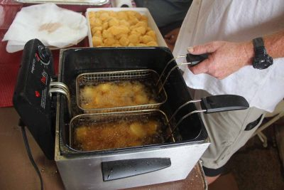 Fried local scallops were also a popular item on the menu at the open house.