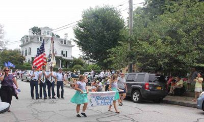 After the Blessing of the Fleet Mass in the morning on July 29, townspeople gathered for the annual parade in Stonington Borough.