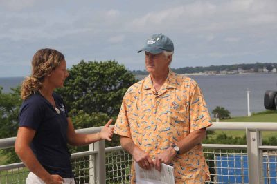 "Aquaculture Extension Educator Tessa Getchis talks about her work with commercial fishermen with ""Community Buzz"" host Peter Roper."