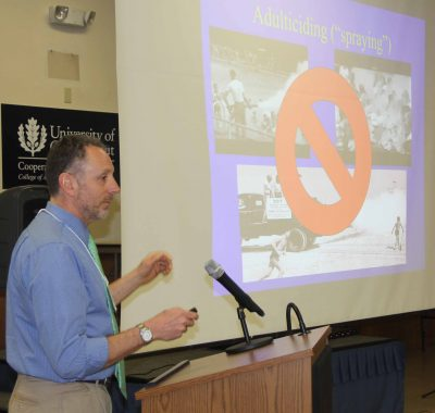 Roger Wolfe, mosquito management coordinator for Connecticut DEEP, said current mosquito control measures are safer and used more selectively than the DDT spraying that took place in the 1940s and 1950s.