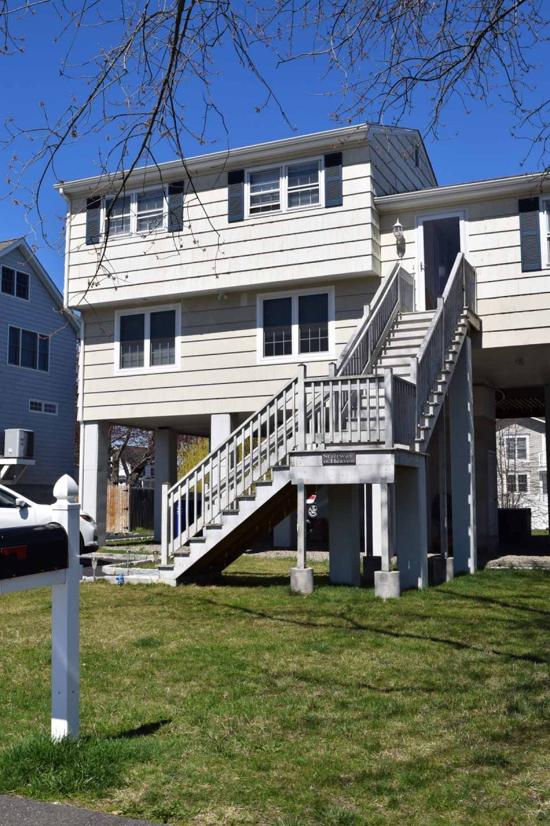 Homes like this one in Fairfield that were elevated after Superstorm Sandy in 2012 have increased vulnerability to wind.