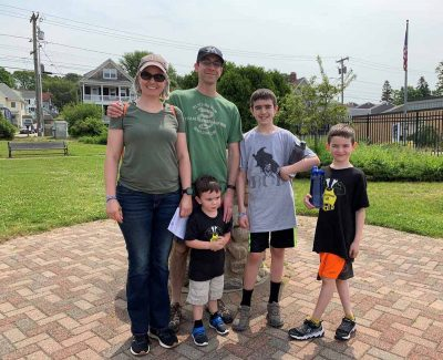 The Ambrosini family of Niantic began the Thames River Quest in Groton before taking the water taxi to New London for the Quest at Fort Trumbull.