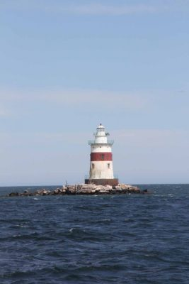 The vessel passed close to Latimer Reef Lighthouse, near the eastern end of Fishers Island.