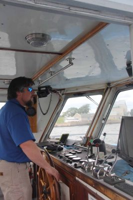 Capt. Ian Morrison piloted the Enviro-Lab III for the on-the-water workshop.