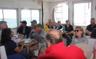 Passengers were made up of about 50 people who work with Sea Grant in various capacities.