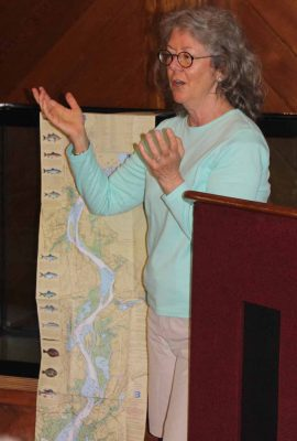 Judy Preston, Sea Grant's Long Island Sound Outreach Coordinator, gave a talk during the Shad Bake about the ecology and significance of the lower Connecticut River.