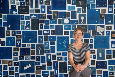 Elizabeth Ellenwood creates images of plastic trash using the cyanotype and wet plate collodion techniques.