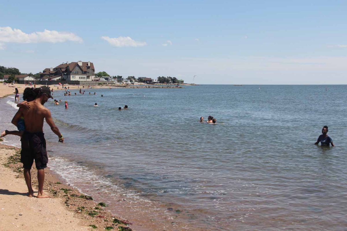 Lighthouse Point Park, a popular New Haven beach, will be the site of the kick-off cleanup event on Aug. 8 for the #DontTrashLISound campaign.