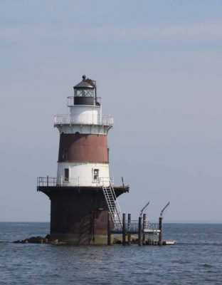 The excursion passed several lighthouses that mark ledges and islands in Norwalk harbor.