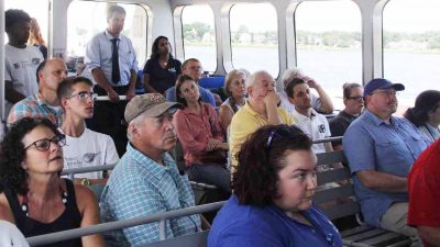 Passengers heard from seven speakers on topics ranging from aquaculture to water quality to research.