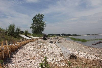 Stratford Point was a former shooting range that had seen significant erosion before it became the site of the first and largest living shoreline project in New England.