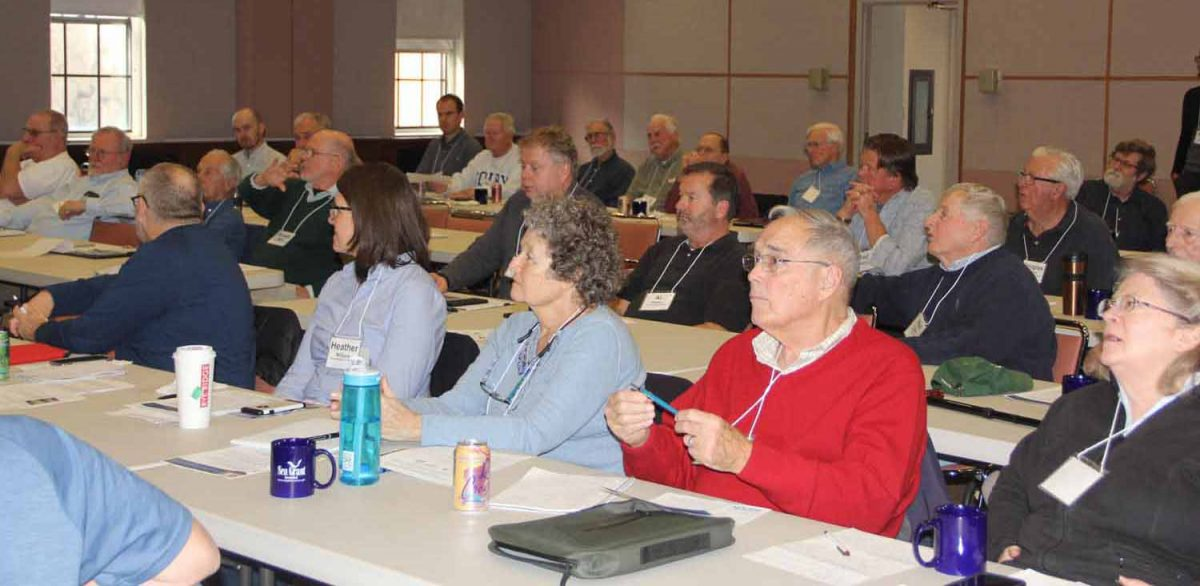 About 50 members of the state's municipal shellfish commissions attended the daylong gathering at the Connecticut Agricultural Experiment Station.