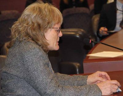 CT Sea Grant Associate Director Nancy Balcom was one of more than a dozen speakers at the public hearing.