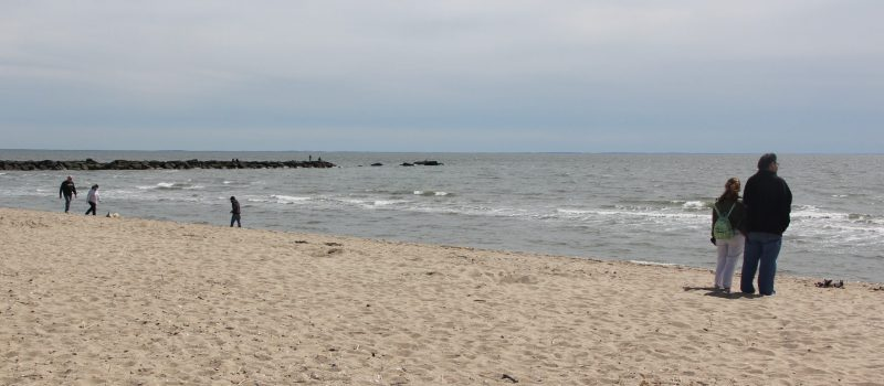 Visitors enjoy Hammonasset Beach State Park in Madison in mid-May.