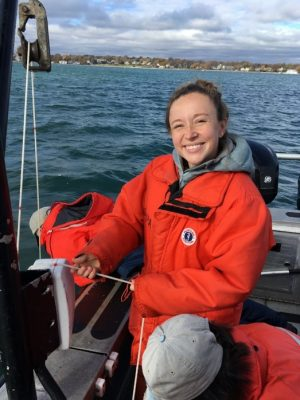 Mary Schoell did water quality sampling on Narragansett Bay during her time at the EPA's Atlantic Coastal Science Division.