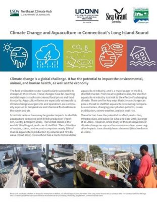 """Page 1 of """"Climate Change and Aquaculture in Connecticut's Long Island Sound"""""""