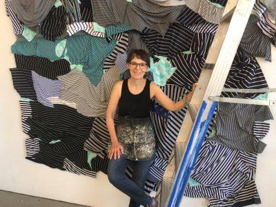 Katheryn Frund with a work in progress in her New Haven studio.