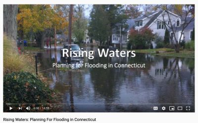 """screeenshot from the """"Rising Waters: Planning for Flooding in Connecticut"""" video"""