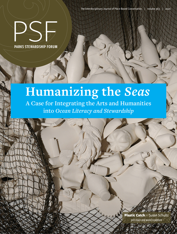 "Cover of ""Humanizing the Seas"" special issue of the Parks Stewardship Forum journal"