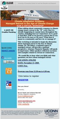 Managed retreat workshop flyer