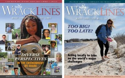 Covers of Fall-Winter 2020-21 and Spring-Summer 2020 issues of Wrack Lines magazine