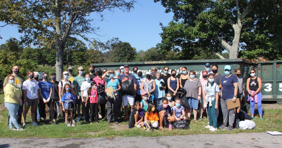 About 50 volunteers joined the cleanup at Ocean Beach Park in New London on Sept. 18.