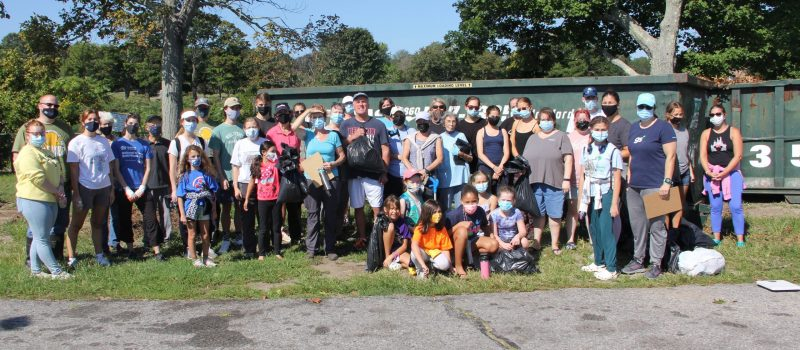 About 50 volunteers joined the cleanup at Ocean Beach Park in New London on Sept. 18, one of two dozen events that capped the #DontTrashLISound - #DoOneThing campaign.